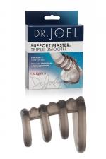 Cockring Support Master triple smooth : Un cockring  extensible et confortable avec 4 anneaux pour soutenir le pénis et les testicules pendant vos ébats amoureux.