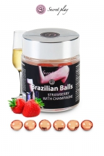 6 Brazilian Balls - fraise & champagne