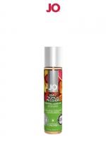 Lubrifiant aromatisé fruits exotiques 30 ml : Lubrifiant aromatisé comestible parfum fruits exotiques au format 30 ml de la marque Américaine System Jo.