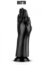Gode géant Double Trouble - BUTTR : Gode géant (diamètre de 5,7 à 9,1 cm) spécial fist-fucking en PVC, reproduisant 2 mains jointes en prière.