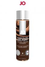 Lubrifiant aromatisé chocolat 120 ml : Lubrifiant aromatisé comestible parfum chocolat au format 120 ml de la marque Américaine System Jo.