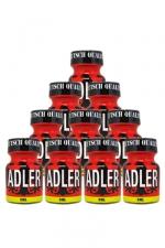 Pack 10 Poppers Adler 9ml : Pack de 10 Flacons de 9 ml de Poppers Adler, arôme liquide érotique à base de Nitrite de Penthyl (le plus fort).