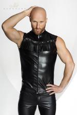 Veste STRONGER Rawhide : Veste sans manches en faux cuir, décorée de franges dans le plus pur style Cowboy. HiHa !